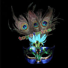 Cosplay Peacock Feather Venetian Mardi Gras Masquerade Mask Party Costume Ball