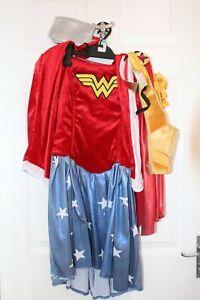Ex Hire Ladies Medium Wonderwoman Dress With Accessories Fancy Dress Costume