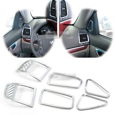 Promotion Interior Chrome Air Vent Molding Kit 6P For HYUNDAI 2010-2012 Santa Fe