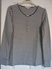 BODEN COSY JERSEY TOP in NAVY/IVORY SPARKLE LARGE UK 16-18, EUR 42-46 BNWT WP046