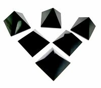 Set of 5 Black Tourmaline  Crystal Healing Pyramid Crystal Pyramid for Grid