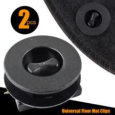 2 X Universal Car Floor Mat Clips Retainer Carpet Fixing Clamps Holders Grips