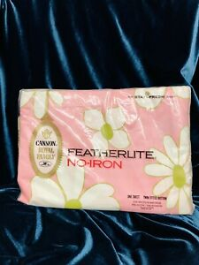 NOS Vintage Cannon Royal Family No-Iron TWIN Fitted Bottom Floral Sheet.