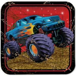 Mudslinger Monster Truck Jam Lunch Dinner Plates Birthday Party Supplies 8 Count
