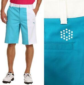 Puma Golf New Wave Colour Block Golf Shorts RRP£60 - W32 OR W34 White / Blue