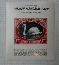 Allentown Pa Trexler Memorial 1951 Swan Stamp Expo Philatelic Souvenir Ad Label