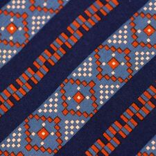Christian Dior Mens Geometric and Stripe Silk Neck Tie Made in France
