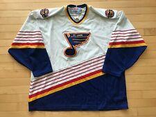 Vintage 90s CCM Label Sewn Patch ST. LOUIS BLUES Men's Sz XXL Home Hockey Jersey