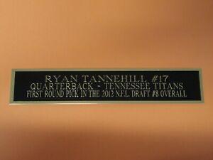 Ryan Tannehill Tennessee Titans Nameplate For A Football Mini Helmet Case 1.5X6