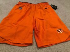 New Nike Cincinnati Bengals NFL Football Shorts Size Small Orange