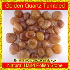 Natural Golden Quartz Tumbled(100gram) Crystals Reiki & Pranic Healing~Mix Color