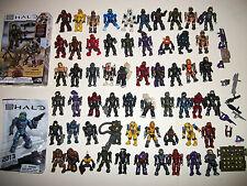 Mega Blocks Minifig Figure Halo Spartans Alien Space Soldier Lot Xbox Toy Lot 60