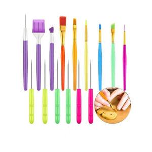 15pc Cake Decorating Tool Set Cookie Brushes Scriber Needles Sugar Stir Supplies