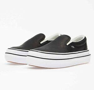 Vans Vault Super Comfycush Slip On LX (Leather) Shoes Size 7.5 Black Ultra Rare