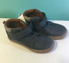 Cat & Jack Navy Fields Casual Shoe High Top Ankle Boot Leather