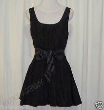 GORGEOUS SASS&BIDE BLACK TAFFETA BUBBLE HEM DRESS 42/6 AUS 12 Made in Australia