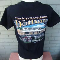 HARLEY DAVIDSON 2-Sided Black Motorcycle T-Shirt Alabama Adult Small