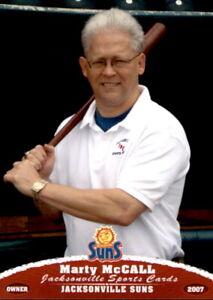2007 Jacksonville Suns Grandstand #16 Marty Mccall Border Texas Proprietor Card