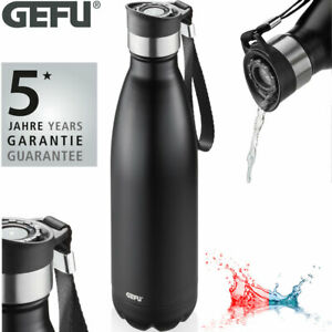 GEFU Edelstahl Thermo Trinkflasche Kaffee Isolier Thermos Becher Flasche 750 ml