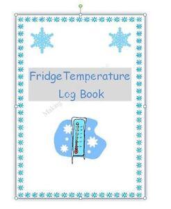 FRIDGE TEMPERATURE log book Childminding EYFS resource ready made