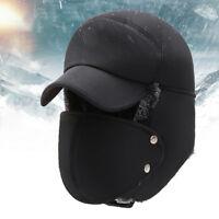 LN_ WOMEN MEN WINTER BIKE HAT WINDPROOF THICK WARM SNOW CAP FACE MASK OUTDOOR