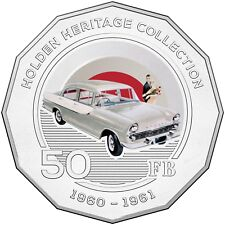 2016 Holden Heritage Collection FB Classic Car 50c Coin in Card