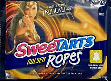 New Sweetarts Soft & Chewy Wonder Woman Tropical Punch Golden Ropes 9 Oz Bag Le