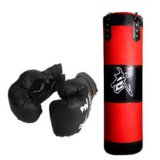 MMA Fitness Heavy Bag Kit w gloves wraps boxing MMA punching training NEW