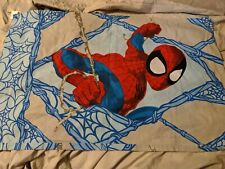 (1) Marvel Comics Ultimate Spiderman Standard Size Double Sided Blue Pillowcase