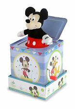 Mickey Mouse Jack In The Box Instrument Kids Toys Baby Music PlayDisney New