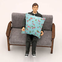 2Pcs flower pillow cushions for sofa couch bed 1/12 dollhouse miniature NTH