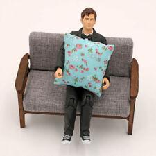 2pcs coussins pour coussins pour canapé divan lit 1/12 Dollhouse miniature