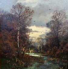 Gogarten Heinrich 1850-1911 München Landschaft BARBIZON ART Düsseldorf am Abend