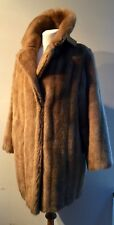 "VINTAGE QUALITY FRENCH 1960-70s CARAMEL FAUX FUR CLASSIC JACKET TO FIT 38"" BUST"