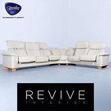 Ekornes Stressless Paradise Designer Eck Sofa Creme Beige Leder Relax Couch E...