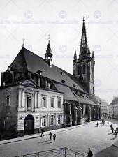 Paesi Bassi Santa Gertrude Chiesa Lovanio Belgio 1890 1900 BW foto stampa 1416bw