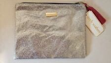 Simply Southern Cosmetic, Make-up Brush Bag Pen Pencil Glitter Silver Case NWT