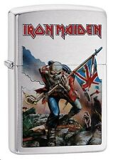 Zippo 29432 Iron Maiden Brushed Chrome Finish Full Size Lighter