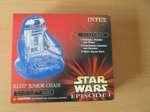 Star Wars Episode 1 R2-D2 Junior Chair Inflatable. Made by Intex. M.I.B.