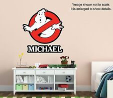 Personalized Ghostbusters Wall Decal (Removable and Replaceable)