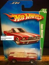 HOT WHEELS 2009 #43 -2 TREASURE HUNT FORD MUSTANG RED CREAM INTR 5SP REG AM