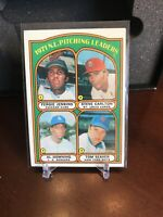 1972 Topps Pitching Leaders #93 Jenkins Carlton Downing Tom Seaver Mets