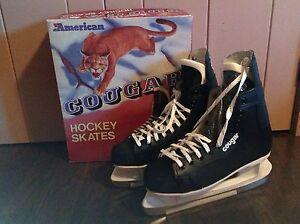 Men's Vintage COUGAR Hockey Skates Size 9 NEW