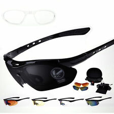 Sports Cycling Bike Bicycle Sunglasses UV400 5 Lens Goggles Glasses RX