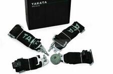 "RACING SEAT BELTS SPORT M-5111 4-POINTS 3"" BLACK - TAKATA REPLICA"