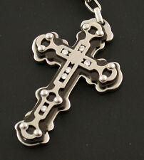 ICEHOUSE Kette chain necklace Kreuz cross Brillanten diamonds 1 of 50 Edelstahl