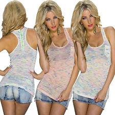 Mehrfarbige Damenblusen, - tops & -shirts mit Rundhals-Ausschnitt