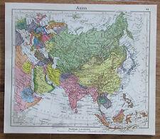 Asien Asia - alte Karte Landkarte aus 1922 old map
