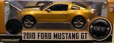 GOLD 2010 FORD MUSTANG GT with BLACK STRIPE GREENLIGHT 1:18 SCALE DIECAST MODEL