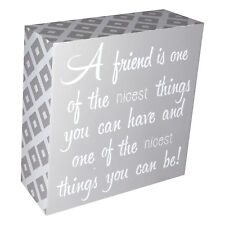 INSPIRATIONAL WOODEN BLOCK SIGN - FREE STANDING OR HANGING - QUOTE - GIFT